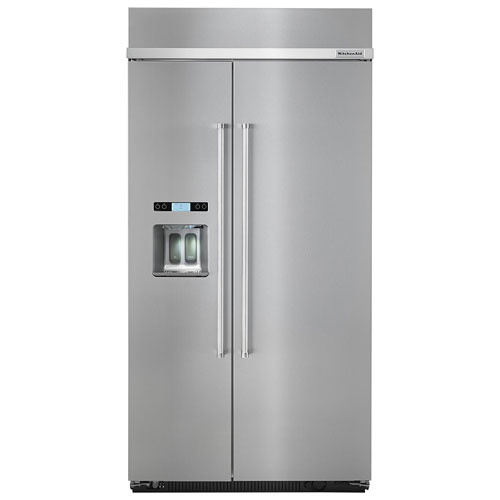 """KitchenAid 43"""" 25.0 Cu. Ft. Side-by-Side Refrigerator (KBSD602ESS) - Stainless Steel"""