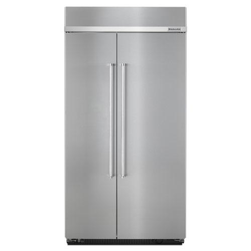 Réfrigérateur côte à côte 42,25 po et 25,5 pi3 de KitchenAid (KBSN602ESS) - Acier inoxydable