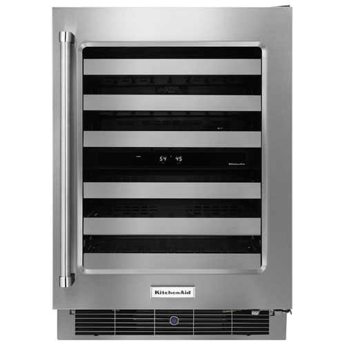 KitchenAid 4.7 Cu. Ft. Wine Cellar (KUWR304ESS) - Stainless Steel