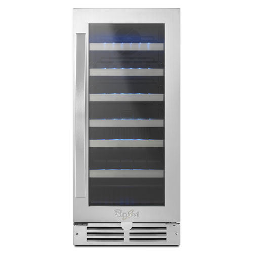 Whirlpool 34-Bottle Wine Cooler (WUW55X15DS) - Black/Stainless
