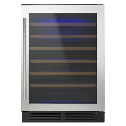 Whirlpool 51-Bottle Wine Cooler (WUW35X24DS) - Black-on-Stainless