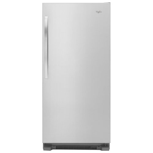 whirlpool 31 18 cu ft all fridge refrigerator with led lighting monochromatic stainless. Black Bedroom Furniture Sets. Home Design Ideas
