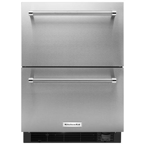 Réfrigérateur/tiroir congélateur de 4,7 pi3 de KitchenAid - Acier inoxydable