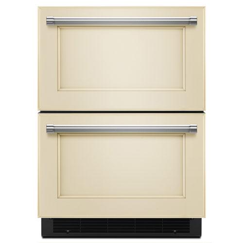 "KitchenAid 24"" 4.7 Cu. Ft. Double Refrigerator Drawer - Panel-Ready"