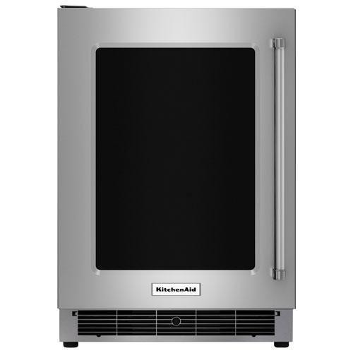 """KitchenAid 24"""" 5.1 Cu. Ft. Under Counter Refrigerator - Stainless Steel"""