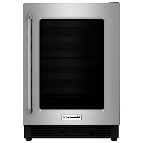 Réfrigérateur sous le comptoir 5,1 pi3 de 24 po de KitchenAid (KURR204ESB) - Acier inoxydable
