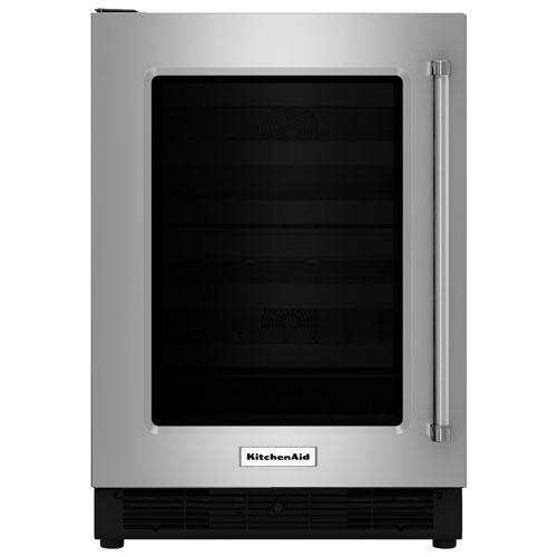 "KitchenAid 24"" 5.1 Cu. Ft. Under Counter Refrigerator (KURL204ESB) - Stainless Steel"