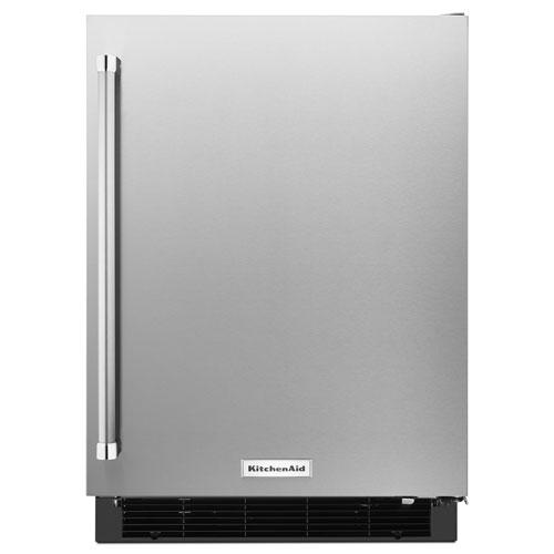 """KitchenAid 24"""" 4.9 Cu. Ft. Under Counter Refrigerator - Stainless Steel"""