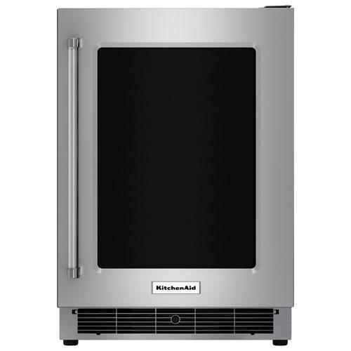 """KitchenAid 24"""" 5.1 Cu. Ft. Under Counter Refrigerator (KURR304ESS) - Stainless Steel"""