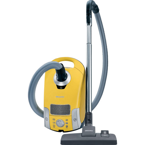 miele compact c1 celebration canister vacuum - canary yellow