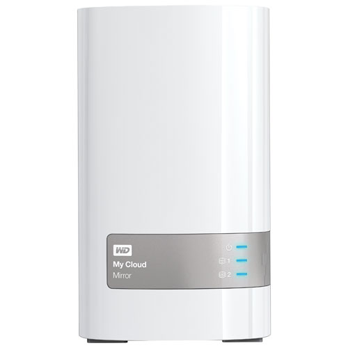 WD My Cloud Mirror 2-Bay 4TB Network Attached Storage V2 (WDBWVZ0040JWT-NESN)