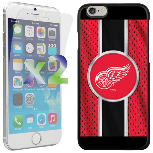 Exian iPhone 6/6s Detroit Red Wings Fitted Soft Shell Case - Red/Black