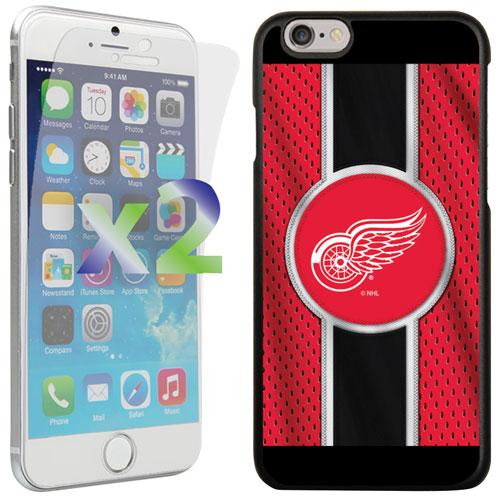 Étui Red Wings de Detroit d'Exian pour iPhone 6/6s - Rouge/noir