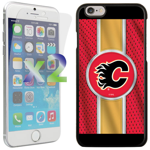 Exian iPhone 6/6s Calgary Flames Fitted Soft Shell Case - Red/Yellow/Black