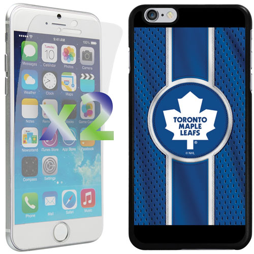 Étui Maple Leafs de Toronto d'Exian pour iPhone 6 Plus/6s Plus - Bleu/blanc/noir