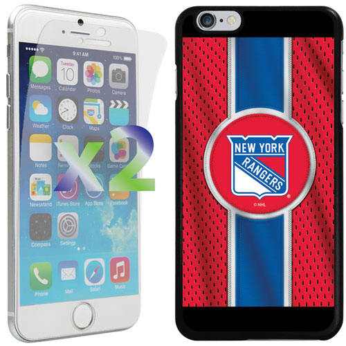 Exian iPhone 6 Plus/6s Plus New York Rangers Fitted Soft Shell Case - Red/Blue/Black