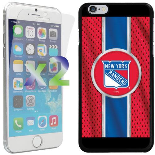 Étui souple ajusté Rangers de New York d'Exian pour iPhone 6 Plus/6s Plus - Rouge - Bleu - Noir