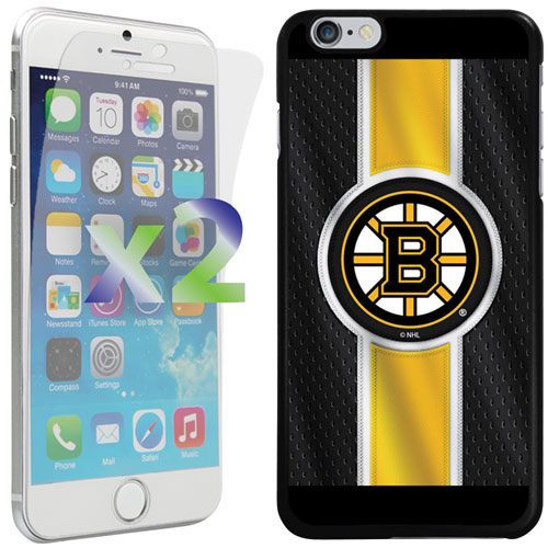 Exian iPhone 6 Plus/6s Plus Boston Bruins Fitted Soft Shell Case - Black/Yellow
