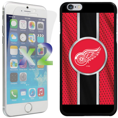 Exian iPhone 6 Plus/6s Plus Detroit Red Wings Fitted Soft Shell Case - Red/Black