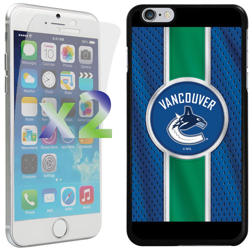 Exian iPhone 6 Plus/6s Plus Vancouver Canucks Fitted Soft Shell Case - Blue/Green/Black