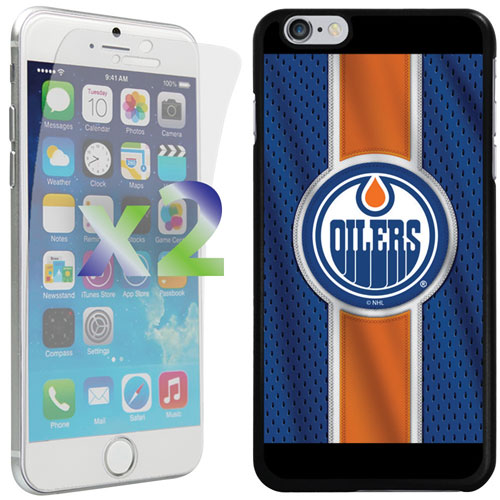 Exian iPhone 6 Plus/6s Plus Edmonton Oilers Fitted Soft Shell Case - Blue/Orange/Black