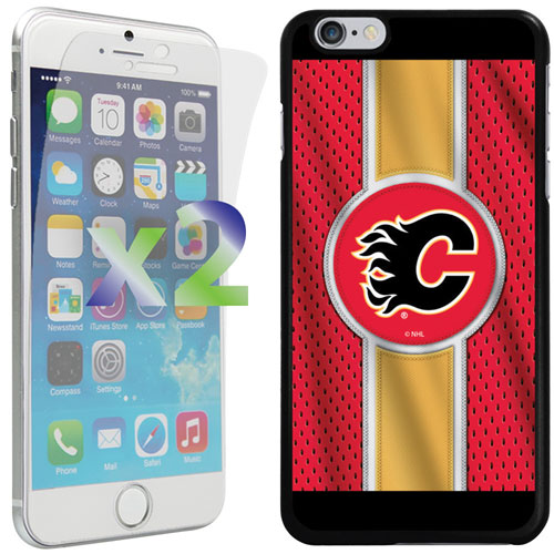 Exian iPhone 6 Plus/6s Plus Calgary Flames Fitted Soft Shell Case - Red/Yellow/Black