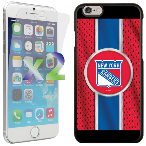 Exian iPhone 6/6s New York Rangers Fitted Soft Shell Case - Red/Blue/Black