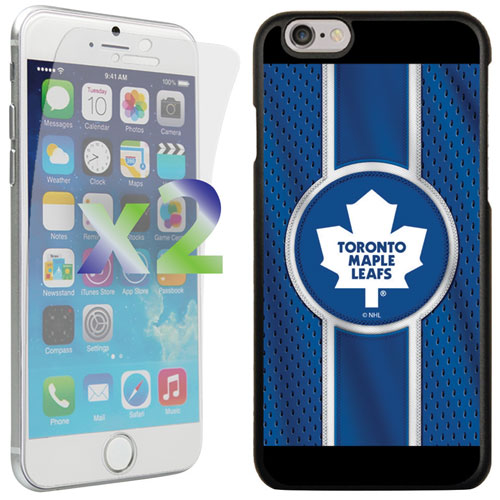 Exian iPhone 6/6s Toronto Maple Leafs Fitted Soft Shell Case - Blue/White/Black