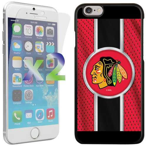 Exian iPhone 6/6s Chicago Blackhawks Fitted Soft Shell Case - Red/Black