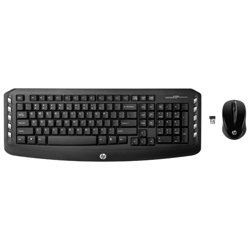 HP Wireless Classic Optical Keyboard & Mouse Combo - Black