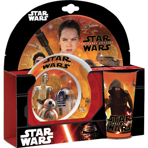 Star Wars: The Force Awakens 3-Piece Kids Dinnerware Set