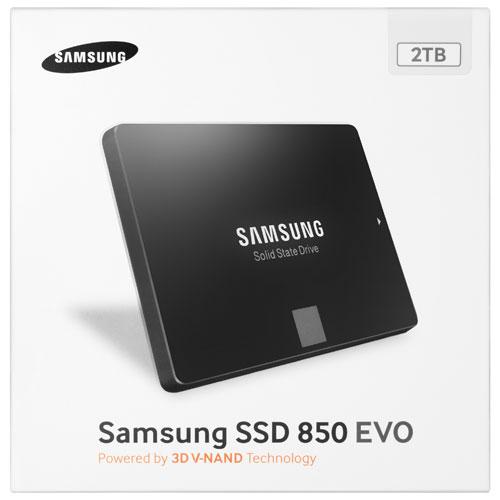 Disque électronique SATA III USB 540 Mo/s 2 To 850 EVO de Samsung