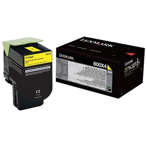 Lexmark 800X4 Yellow Extra High Yield Toner (80C0X40)