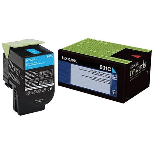 Lexmark 801C Cyan Return Program Toner (80C10C0)