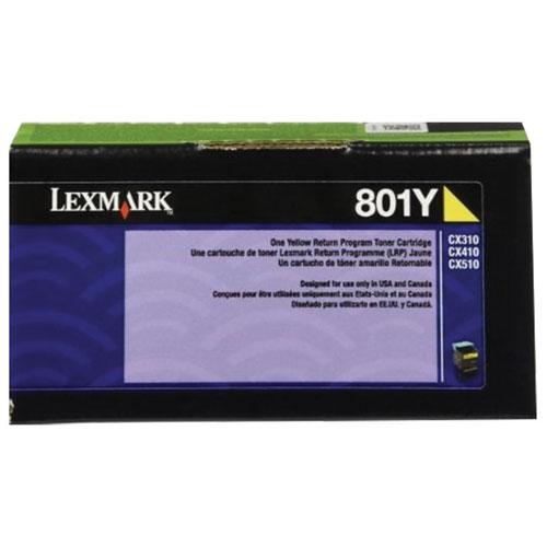 Lexmark 801Y Yellow Return Program Toner (80C10Y0)