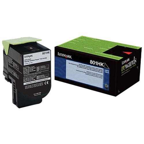 Lexmark 801HK Black High Yield Return Program Toner (80C1HK0)
