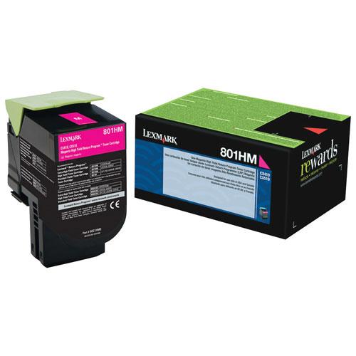 Lexmark 801HM Magenta High Yield Return Program Toner (80C1HM0)