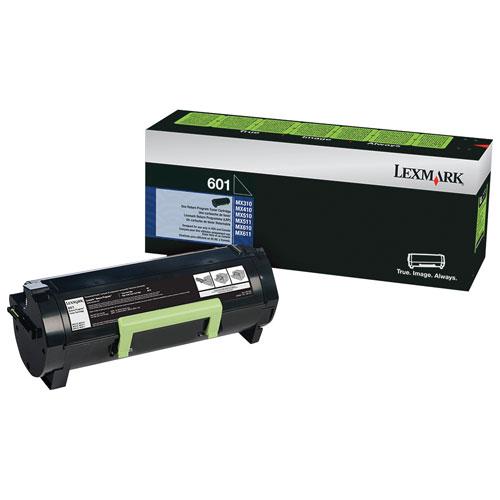 Cartouche d'encre en poudre recyclable noire 601 de Lexmark (60F1000)