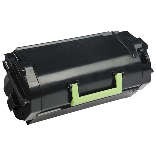 Cartouche d'encre en poudre recyclable à très haut rendement noire 621X de Lexmark (62D1X00)