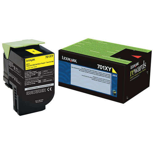 Lexmark 701XY Yellow Extra High Yield Return Program Toner (70C1XY0)