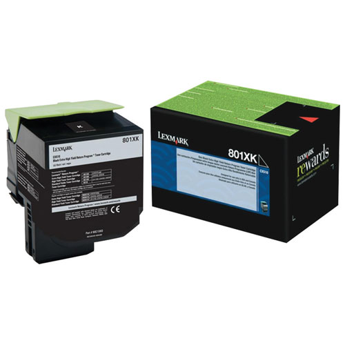 Lexmark 801XK Black Extra High Yield Return Program Toner (80C1XK0)