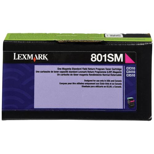 Cartouche d'encre en poudre recyclable magenta 801SM de Lexmark (80C1SM0)