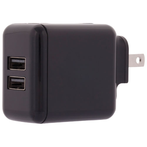 Insignia 3.4 Amp Wall Charger with 2 Ports (NS-MAC2U3N-C)