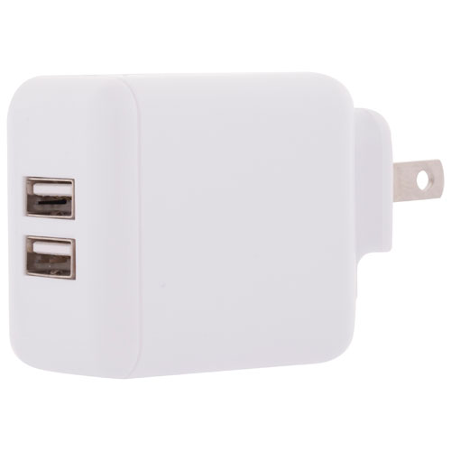 Insignia 2-Port USB Wall Charger (NS-TAC2U3NW-C) - White