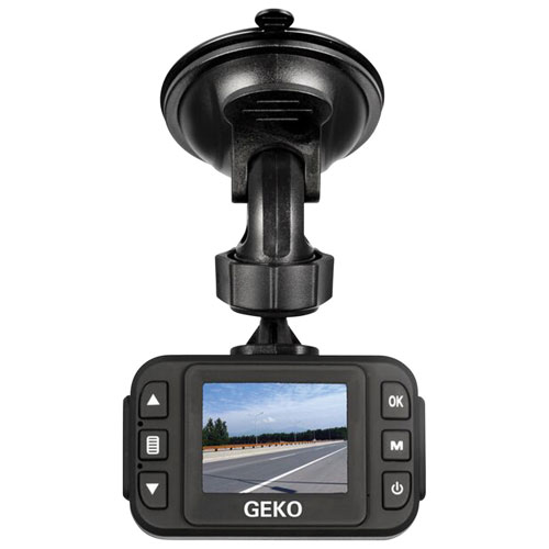 "Geko E100 Full HD 1080p Dash Camera with 1.5"" LCD Screen & 8GB microSD"