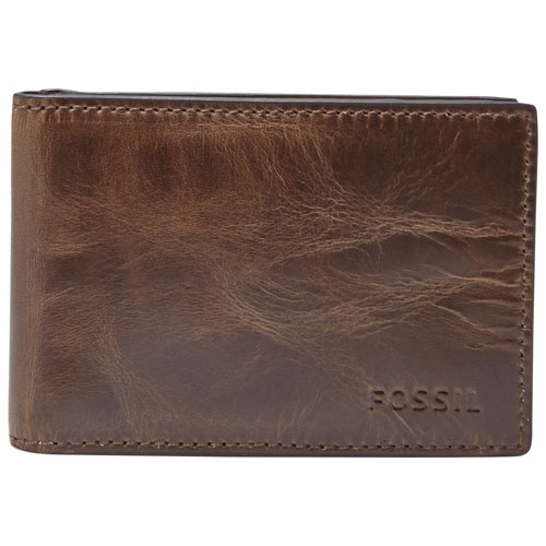 fc76400a7ebf Fossil Classic Leather Bifold Wallet with Money Clip - Dark Brown   Wallets  - Best Buy Canada