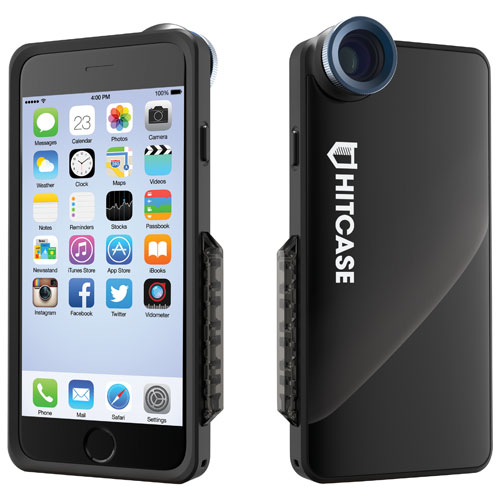Hitcase SNAP iPhone 6/6s Fitted Hard Shell Case with Lens, Monopod & Tripod - Black