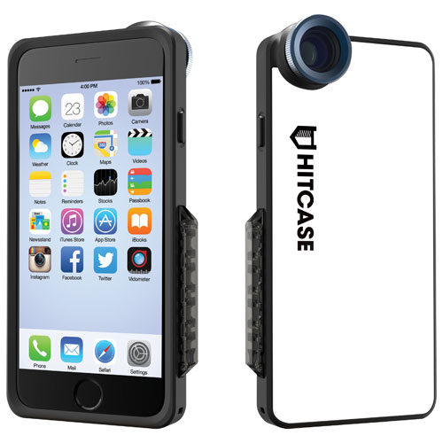 Hitcase SNAP iPhone 6/6s Fitted Hard Shell Case with Lens, Monopod & Tripod - White