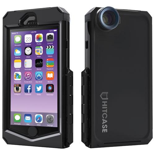 Étui rigide ajusté PRO lentille, monopode, système fixation RailSlide Hitcase pour iPhone 6/6 - Noir