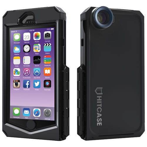 Hitcase PRO+ iPhone 6/6s Fitted Hard Shell Case with Lens, Monopod & Tripod Mount - Black